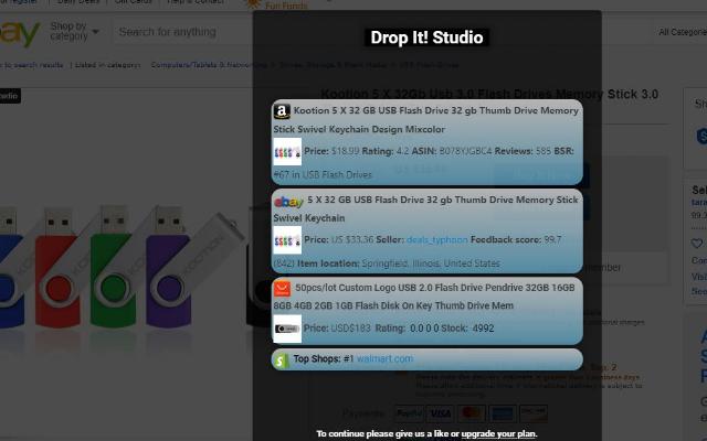 Dropshipping Price Comparison App - Drop It! Studio